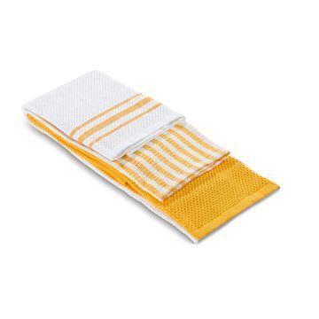 תמונה של מגבת מטבח צהוב