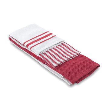 תמונה של מגבת מטבח אדום