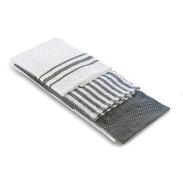 תמונה של מגבת מטבח אפור