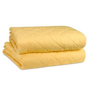 תמונה של כיסוי מיטה סאטן צהוב